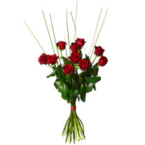 Bouquet with 10 red roses